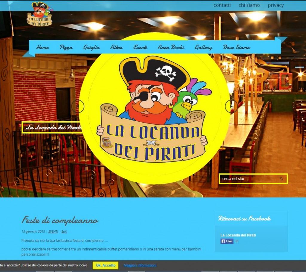 Realizzato per l'omonimo locale nel Pavese, ci siamo occupati anche del servizio fotografico - www.lalocandadeipirati.it