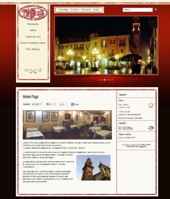 www.ristorantetavernaparadiso.it