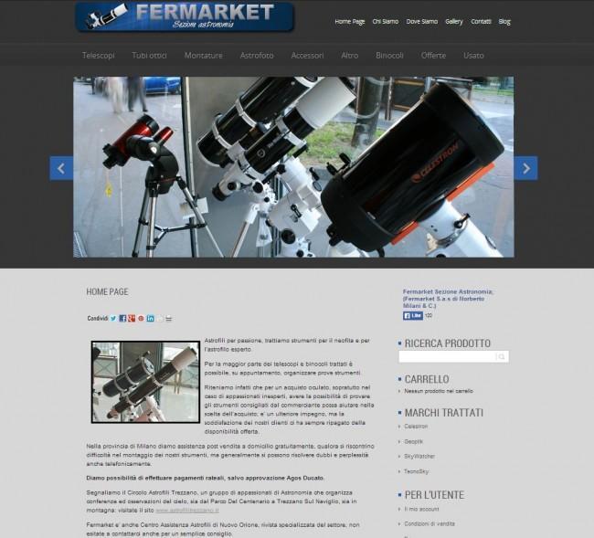 e-commerce realizzato con Woocommerce, prende il posto del precedente sito già da me sviluppato - www.telescopifermarket.com