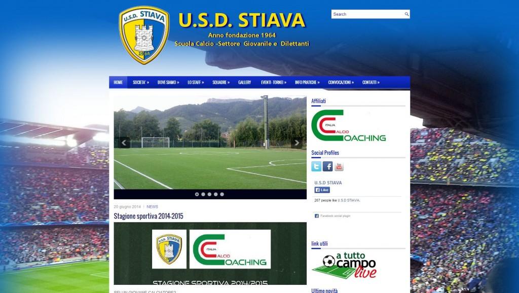 Realizzato con cura ai dettagli è il sito della Stiava 1964, società di calcio - www.usdstiava.it