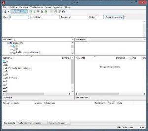 Schermata di FileZilla