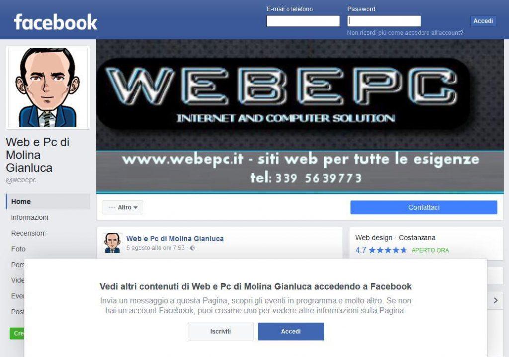 Meglio Facebook o un sito internet?