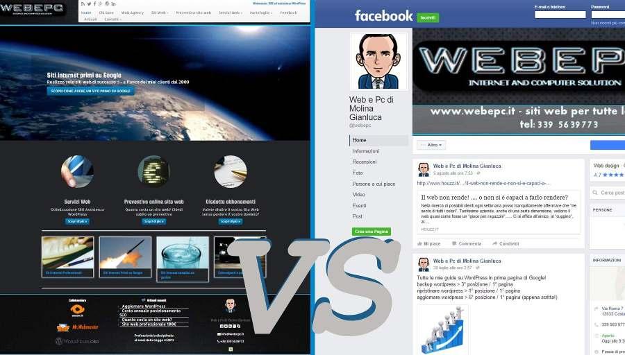 Sito Web o Pagina Facebook?