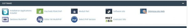 aggiornare versione php cpanel dettaglio